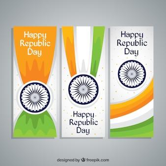 Happy bannières jour de republica indien