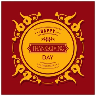 Happy Day Thanksgiving rétro carte