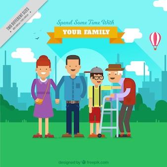 Happy family dans un parc