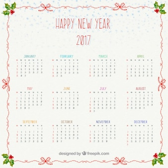 happy new year 2,016 calendrier