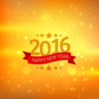 happy new year card en or bokeh