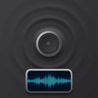Haut-parleur audio avec ondes sonores eps 10
