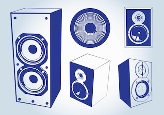haut-parleurs de musique vecteurs
