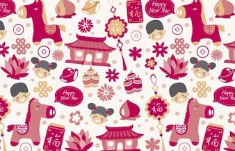 Heureux chinois nouveau fond de l'année