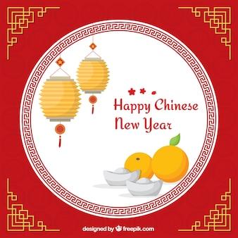 Heureux chinois nouvelle carte de l'année