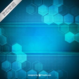 Hexagones Fond bleu