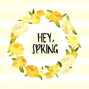 Hey spring background