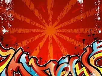 Hip-Hop Urban Rouge Bleu Jaune gratuit misc vecteur de rue de graffiti