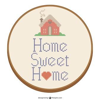 Home sweet home conception au point de croix