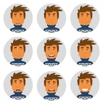 Homme avec la collecte des avatars en jersey