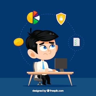 Homme d'affaires avec ordinateur