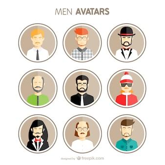 Hommes avatars mis