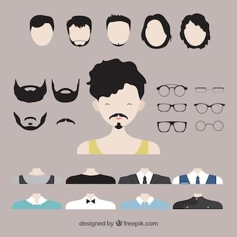 Hommes créateur avatar