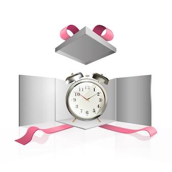 Horloge à l'intérieur de la boîte actuelle