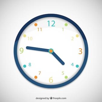 Horloge coloré