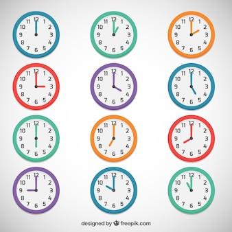 Horloges colorées