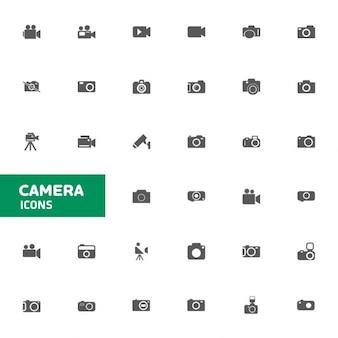 Icône de l'appareil photo réglé pour le web et mobiles