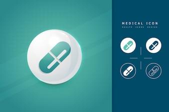 Icône de médecine capsule
