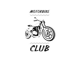Icône de moto de moto. Coureur de café.