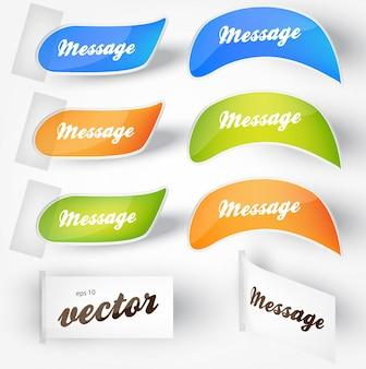 Icone note set couleur étiquette
