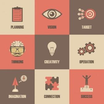 Icônes d'affaires définies