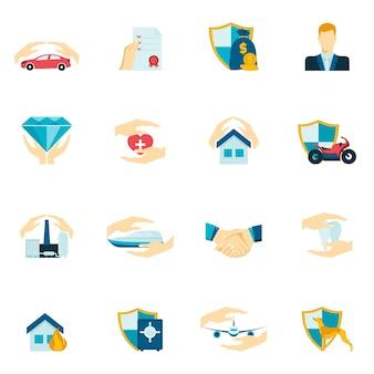 Icônes d'assurance Collectio