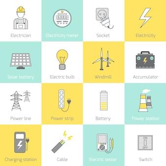 Icônes d'énergie
