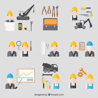 Icônes d'ingénierie de la construction