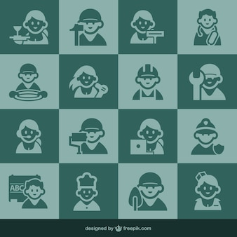Icônes d'occupation et les icônes de personnes
