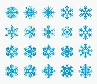 Icônes de flocons de neige
