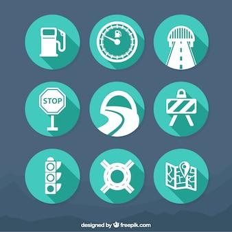 icônes de la circulation