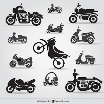 Icônes de moto gratuit