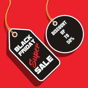 Icônes de vente vendredi noir. gros symboles de vente