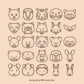 icônes des animaux
