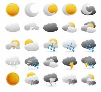 icônes météo vector graphic