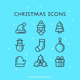 Icônes mignon de Noël
