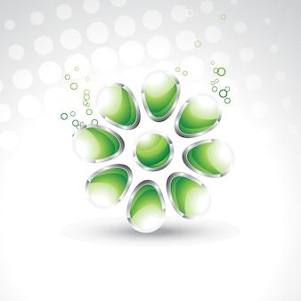 Illustration 3d de conception de cristaux de vecteur