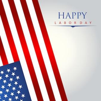 Illustration de carte postale avec drapeau américain pour la fête de l'indépendance