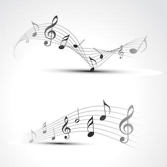 Illustration de fond de note de musique vectorielle