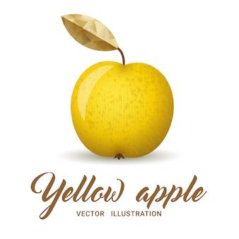 Illustration de pomme jaune