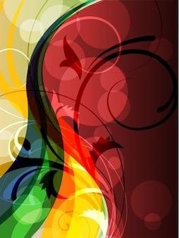 Illustration de style floral vectoriel brillant