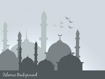 Illustration islamique de conception de fond islamique