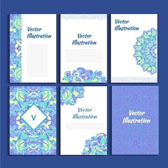 Illustration vectorielle bleue