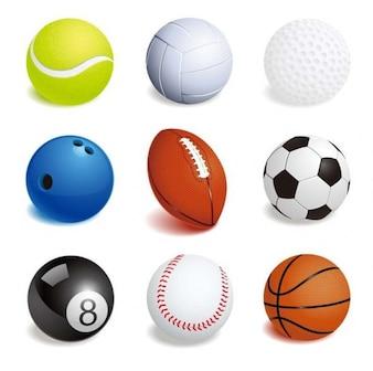 illustration vectorielle de balles de sport