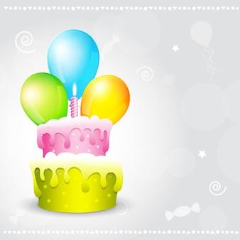 Illustration vectorielle de fond d'anniversaire