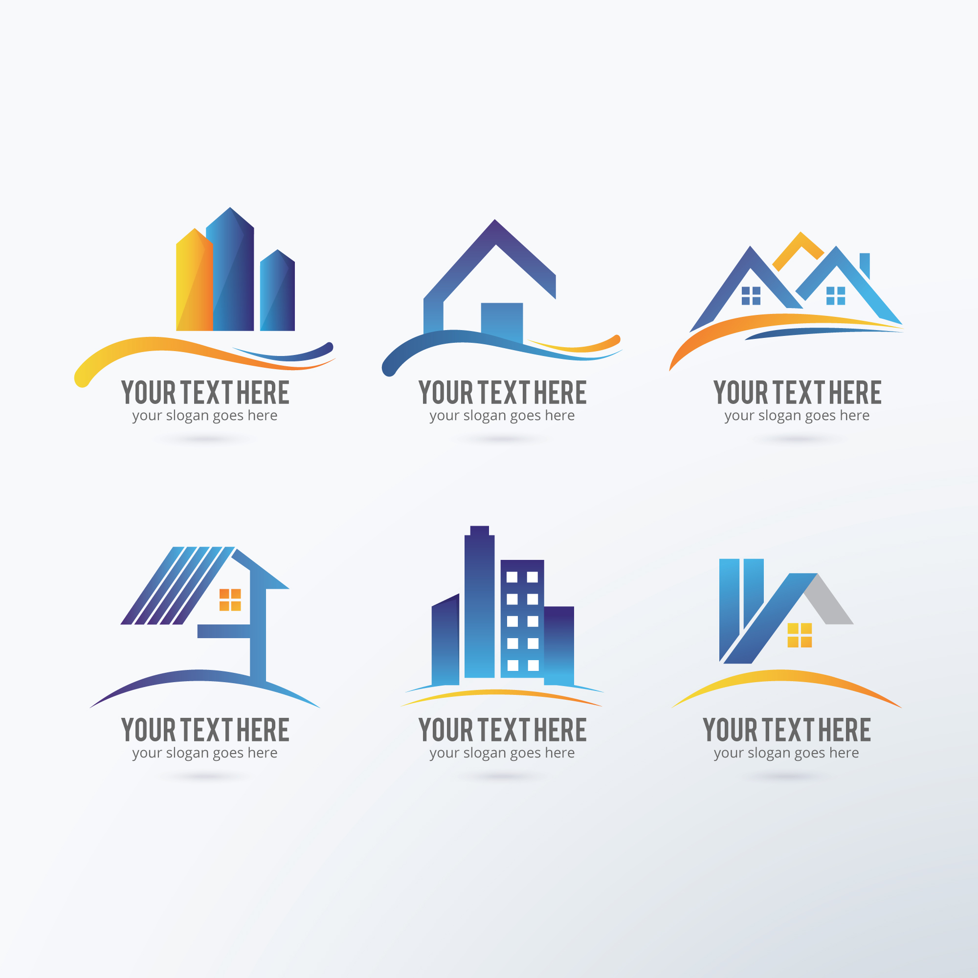 Immobilier logos collection