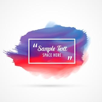 Impressionnant fond aquarelle tache avec l'espace de texte échantillon