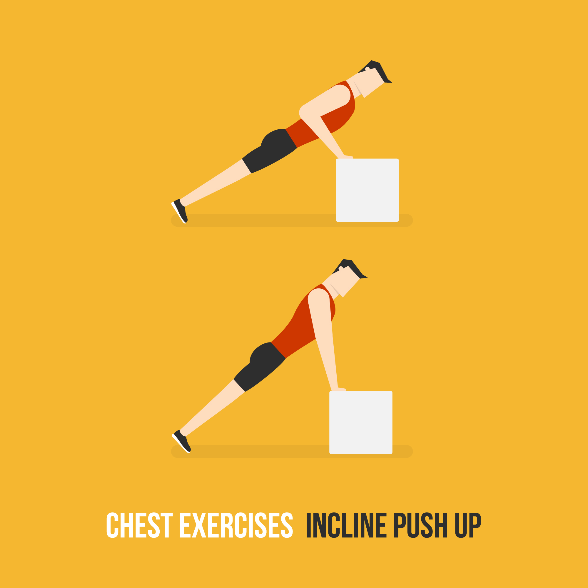 Incliner push up demostration
