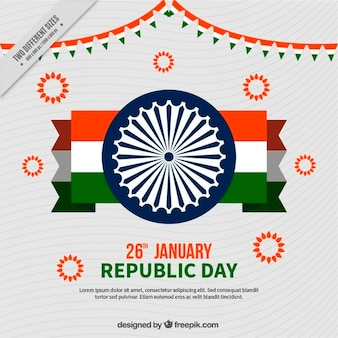 Indian fond de jour république avec le drapeau