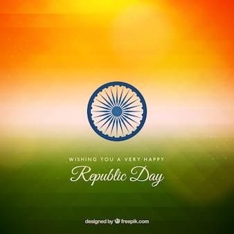 Indian jour république fond dans le style gradient